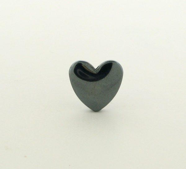 9229 - 12mm  Heart Shape Hematite Beads - 16'' Strand
