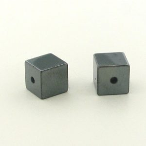 9230 - 6x6mm  Square Shape Hematite Beads - 16'' Strand