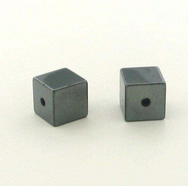 9230 - 6x6mm  Square Shape Hematite Beads - 16'' Strand