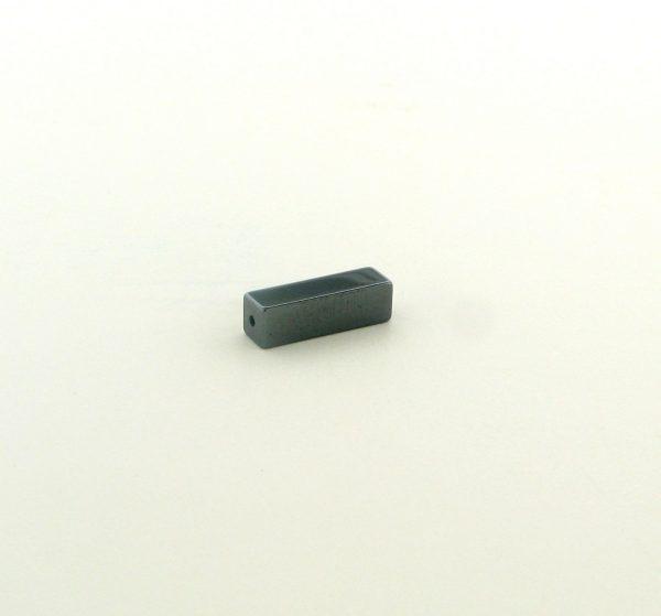 9233 - 4x13mm  Square Tube Shape Hematite Beads - 16'' Strand