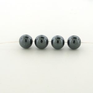 9235 - 3mm Round Hematite Beads - 16'' Strand