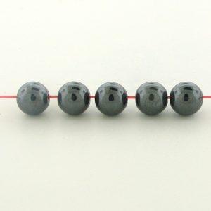 9236 - 4mm  Round Hematite Beads - 16'' Strand