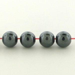 9237 - 6mm  Round Hematite Beads - 16'' Strand