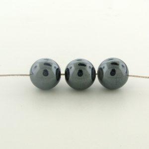 9238 - 8mm  Round Hematite Beads - 16'' Strand
