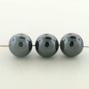 9239 - 10mm  Round Hematite Beads - 16'' Strand