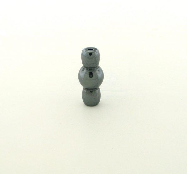 9240 - 7.5x17mm Fancy Hematite Beads - 16'' Strand