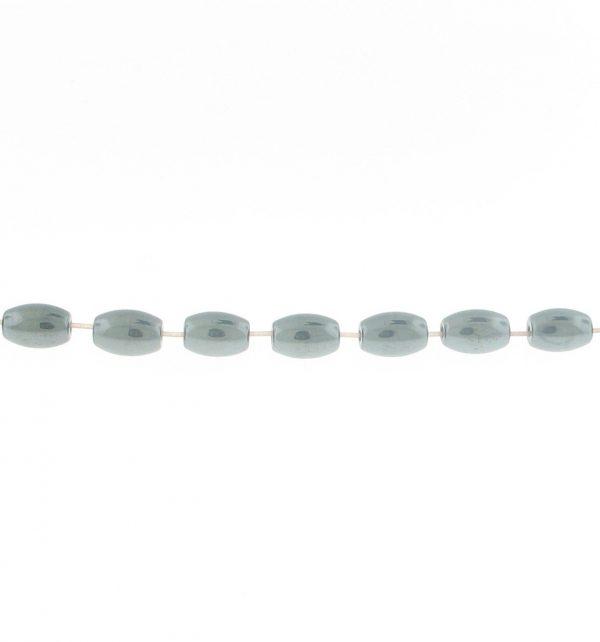 9210 - 4x6mm Oval Shape Hematite Beads - 16'' Strand