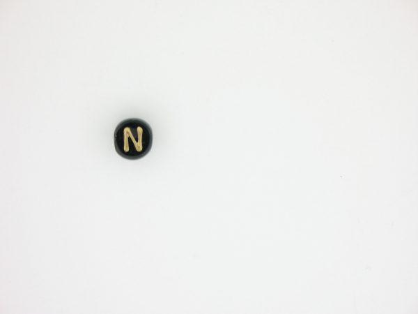 9011GB - Gold and Black Alphabet - N