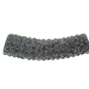 4219 - 9x36mm Shamballa Pave Tube - Amethyst