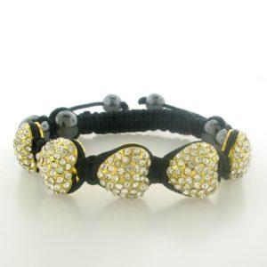 4227 - Gold Finish Metal Heart Bracelet