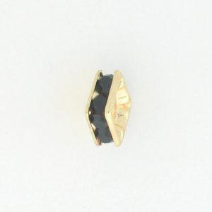 9852 - 6mm Rhinestone Squaredelle Gold Plated - Garnet