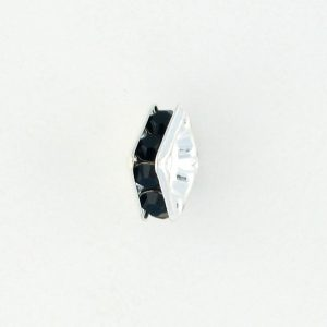 9852S - 6mm Rhinestone Squaredelle Silver Plated - Jet