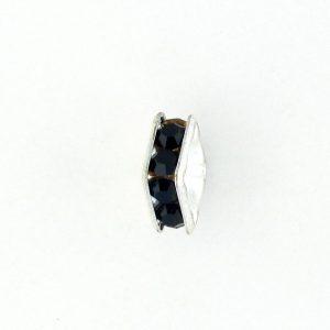 9851S - 4mm Rhinestone Squaredelle Silver Plated - Garnet (12pcs.)