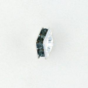 9851S - 4mm Rhinestone Squaredelle Silver Plated - Montana (12pcs.)
