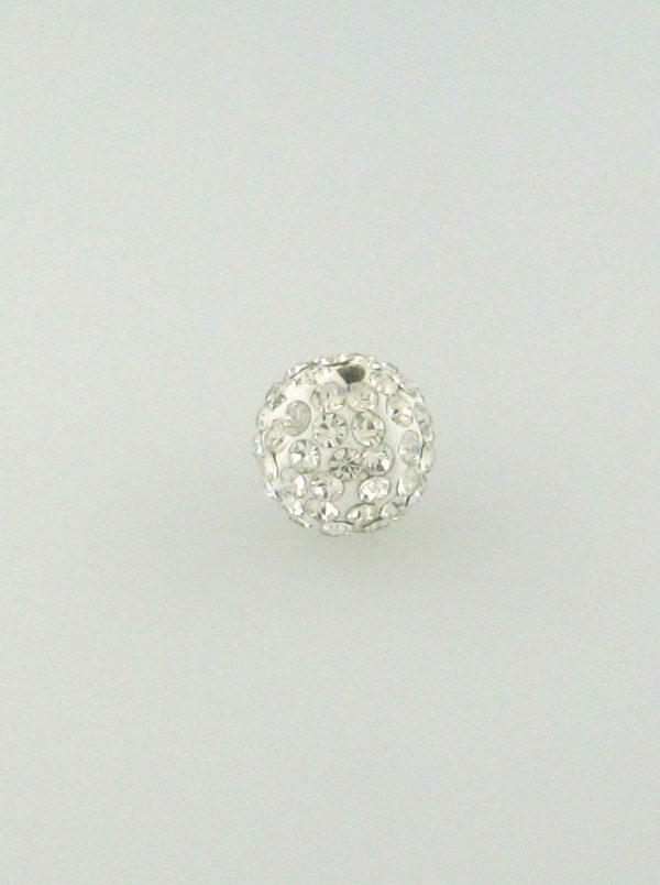 4206 - 6mm Round Shamballa Bead - Crystal