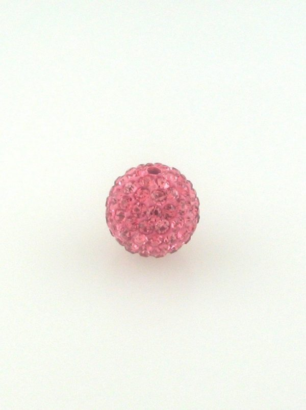 4206 - 6mm Round Shamballa Bead - Rose ($0.75/pc.)