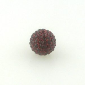 4206 - 6mm Round Shamballa Bead - Siam ($0.75/pc.)