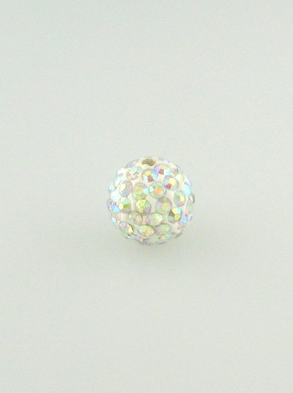 4206 - 6mm Shamballa Round Bead - Crystal AB ($0.75/pc.)