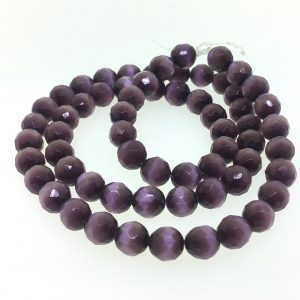 9502 - 6mm Round Faceted Cat's Eye - Amethyst