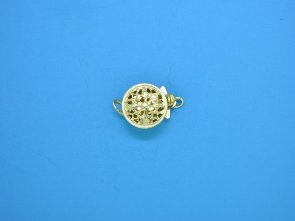 368 - 9mm Gold Filled Round Single Strand Clasp
