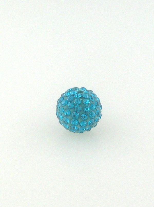 4208 - 8mm Round Shamballa Bead - Blue Zircon