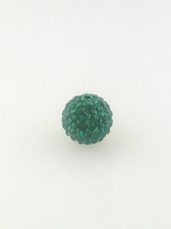 4208 - 8mm Round Shamballa Bead - Emerald