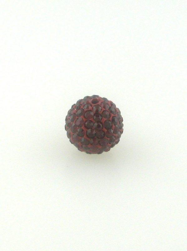 4208 - 8mm Round Shamballa Bead - Siam