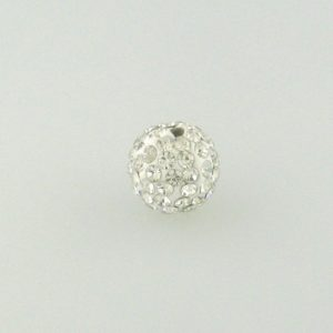 4210 - 10mm Round Shamballa Bead - Crystal