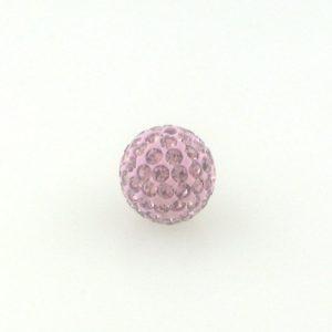4210 - 10mm Round Shamballa Bead - Lt. Amethyst