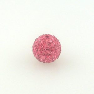 4210 - 10mm Round Shamballa Bead - Rose
