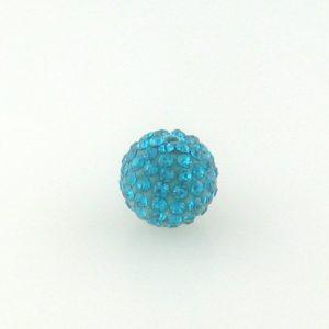 4212 - 12mm Round Shamballa Bead - Blue Zircon