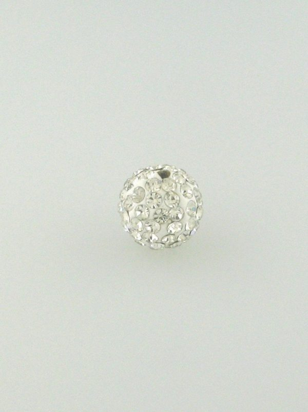 4212 - 12mm Round Shamballa Bead - Crystal