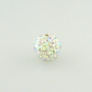 4212 - 12mm Round Shamballa Bead - Crystal AB