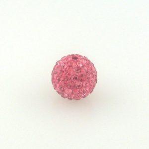 4212 - 12mm Round Shamballa Bead - Rose