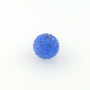 4212 - 12mm Round Shamballa Bead - Sapphire