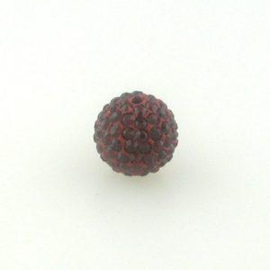 4212 - 12mm Round Shamballa Bead - Siam