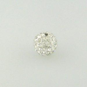 4214 - 14mm Round Shamballa Bead - Crystal