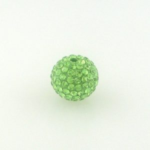 4214 - 14mm Round Shamballa Bead - Peridot