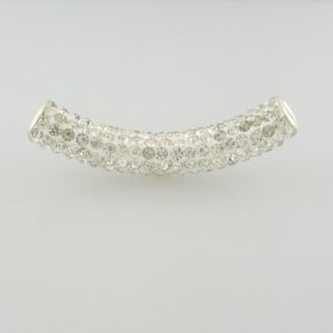 4220 - 9x50mm Shamballa Pave Tube - Crystal