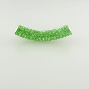 4220 - 9x50mm Shamballa Pave Tube - Peridot