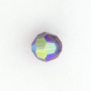 5000 - 7mm Swarovski Round Crystal Amethyst AB
