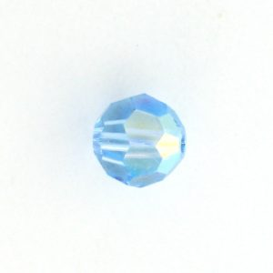 5000 - 7mm Swarovski Round Crystal Aquamarine AB