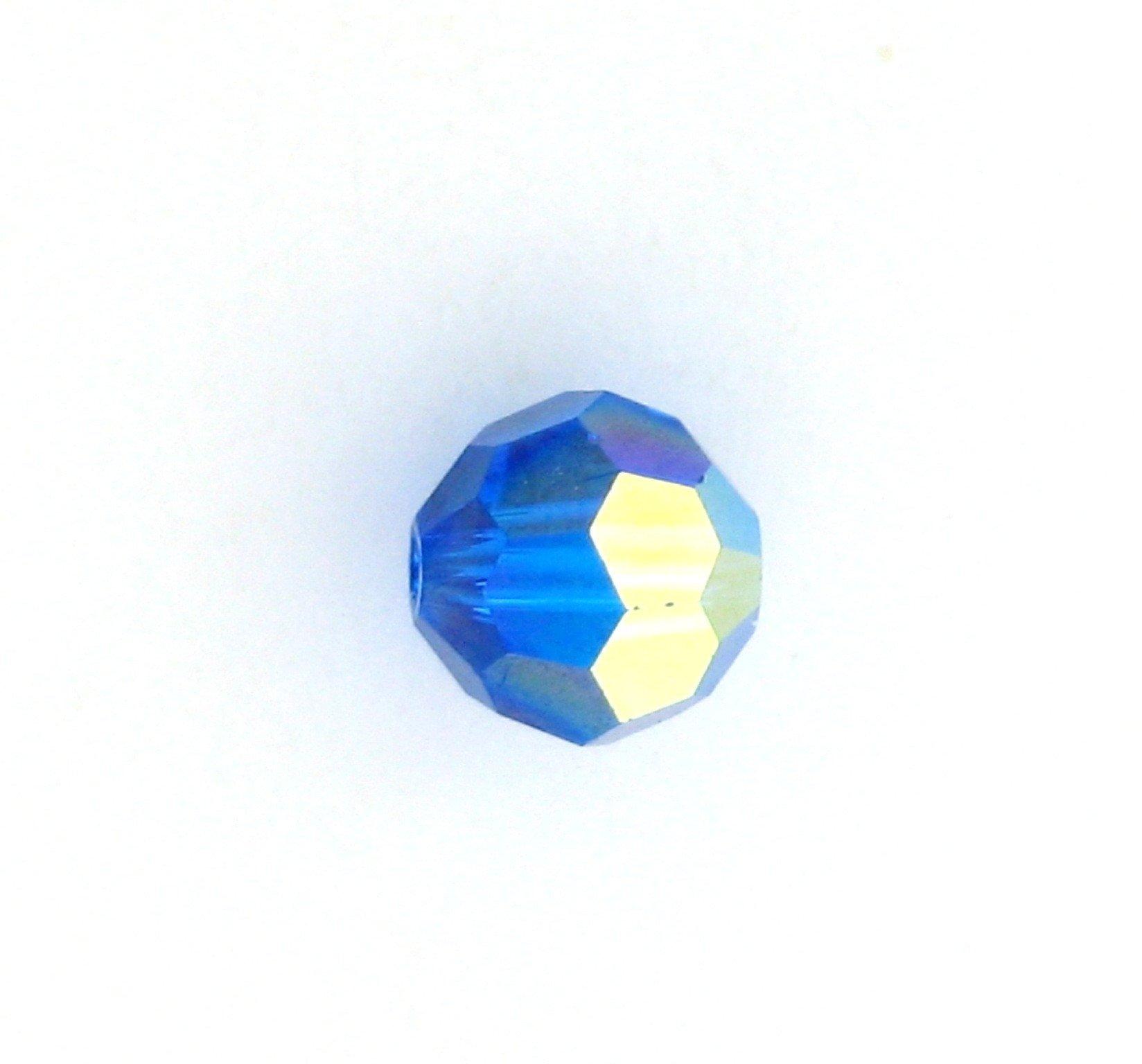 2e2fbe18f 5000 - 8mm Swarovski Round Crystal - Capri Blue AB   Crystal Findings