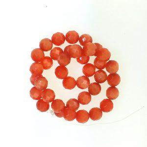 9504 - 10mm Round Faceted Cat's Eye - Orange
