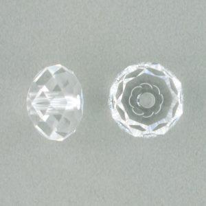 5041 - 12mm Swarovski Briolette Beads (Large Hole) - Crystal