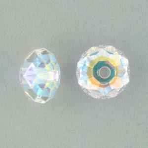 5041 - 12mm Swarovski Briolette Beads (Large Hole) - Crystal AB