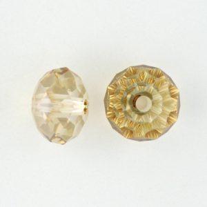5041 - 12mm Swarovski Briolette Beads (Large Hole) - Golden Shadow