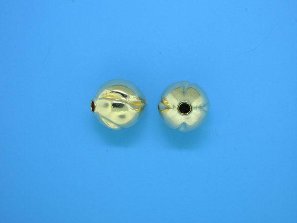 808 - 11mm Gold Filled Fancy Bead