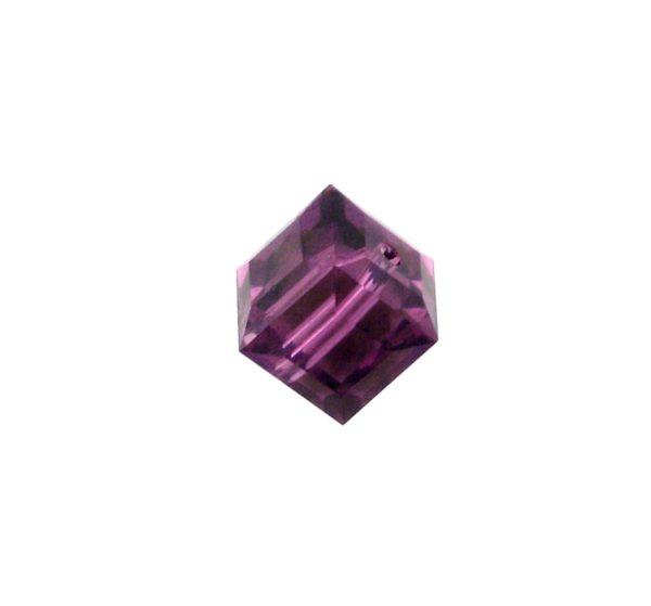 5601 - 6mm Swarovski Cube Crystal - Amethyst
