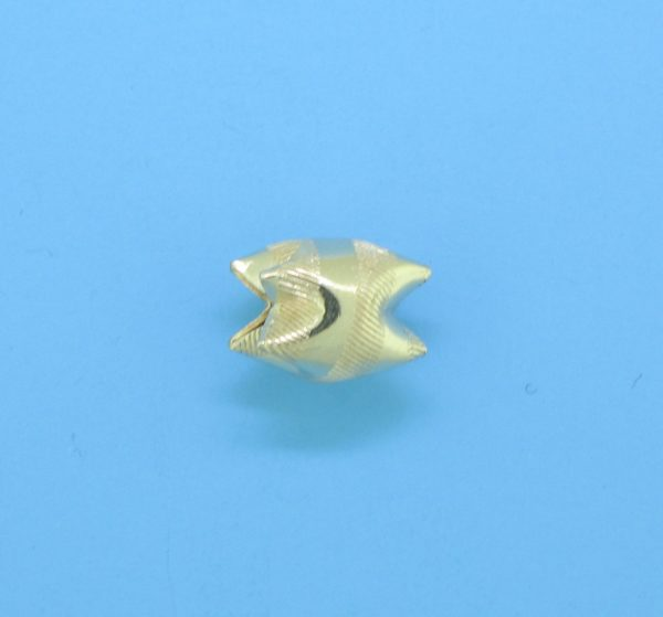 1005 - 7x9mm 14K Gold Filled Interlock Bead